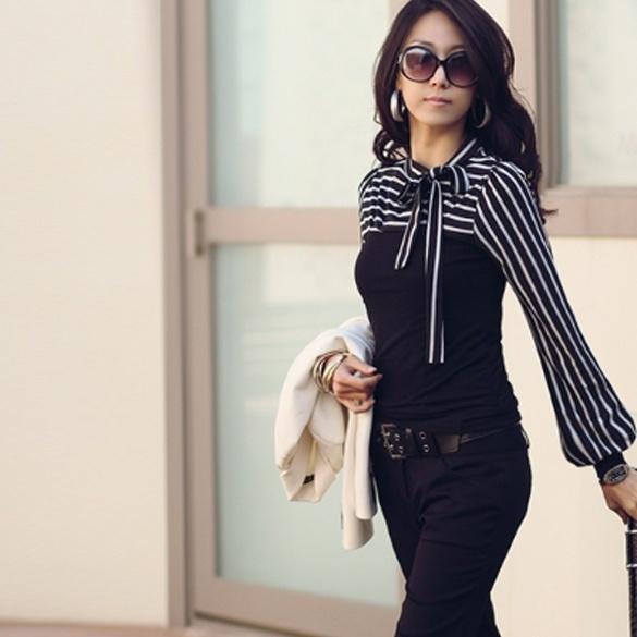 bowknot, Polo Shirts, Long Sleeve, Tops