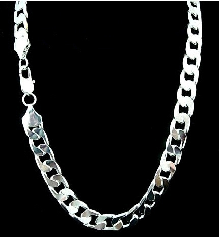 Width 7 Mm Silver Necklace For Men 22 Inch Sterling Silver Chain Necklace Fashion Men Jewelry Wish
