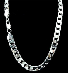 Sterling, punk necklace, Crystals Necklace, 925 silver necklace