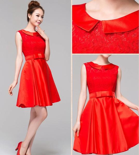 Wish | New Red Qipao wedding dress,modern Chinese qipao /cheongsam,A ...