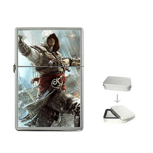 Assassins Creed Black Flag Inspired Pirate Zippo Lighter Wish