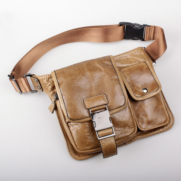 0351bc31af5b8 Mens A4 Medium Leather Messenger Bag Tan   Pablo