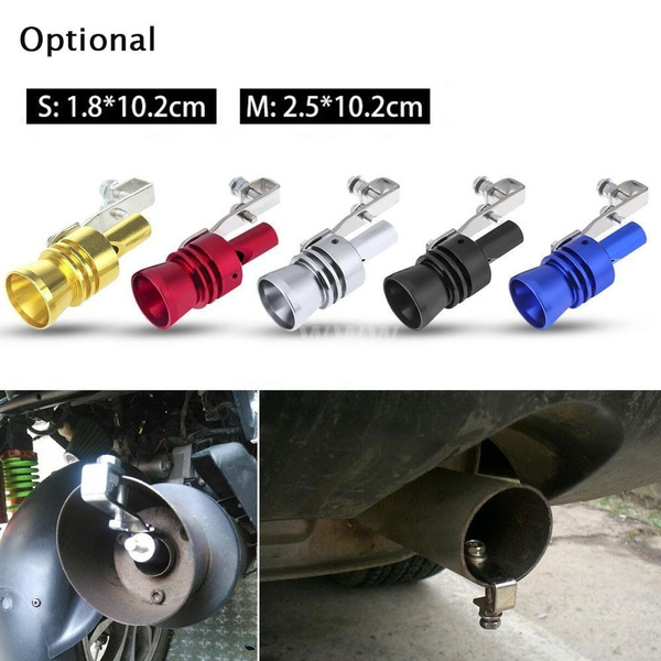 XL Turbo Sound Whistle Exhaust Pipe Tailpipe Blow off Valve Simulator Aluminum