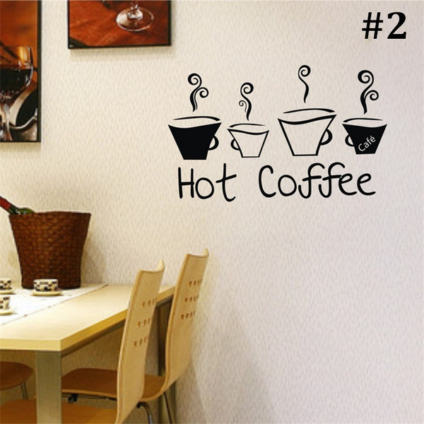 Wish | Kitchen Wall Stickers Coffee Home Decoration Fashion Wall Decals  Vintage Poster Vinyl Wall Art Mural Decorative Stickers