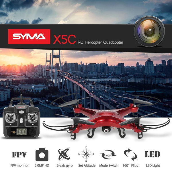 Picture of Aerial Photography Syma X5c 2.0mp Hd Fpv Camera 2.4ghz 4ch 6 Axis Rc Gyro 2gb Tf Card