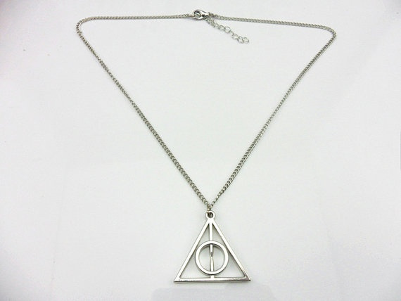 Wish Jewelry Silver Metal Deathly Hallows Triangle Harry Potter