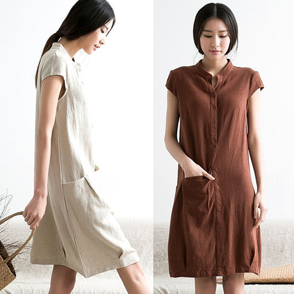 4514bc30b9 knee length linen dress women s cotton dress long dress maxi dresses ...