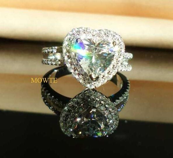 Wish Mowte Womens Fashion Rings 925 sterling silver 20ct heart