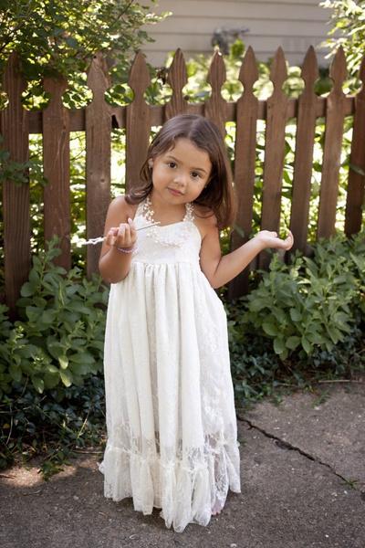White Girls Maxi Dresses