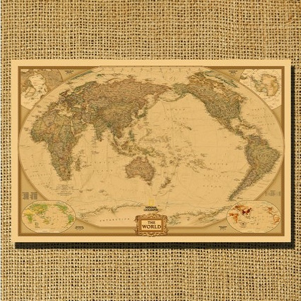 Large Paper World Map.Wish Fashion Large Vintage Retro Paper World Map Poster 28 X 18