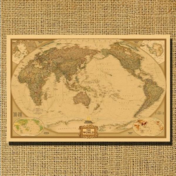 Large Paper World Map.Wish Fashion Large Vintage Retro Paper World Map Poster 28 X 18
