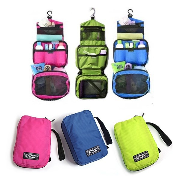 Picture of Unisex Travel Camping Hanging Wash Bag Cosmetic Makeup Toiletry Organizer Case