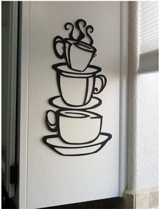 Hot Removable Coffee House Cup cafe vinyl wall art decal stickers Kitchen D¨¦cor