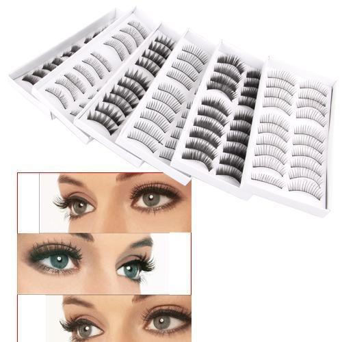 Picture of 60 Pair Assorted False Eyelashes Eyelash Makeup Party