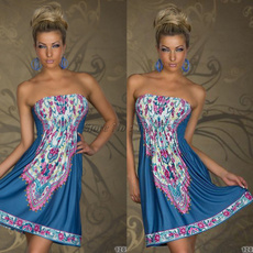 strapless, Vintage, Vestidos, Moda femenina