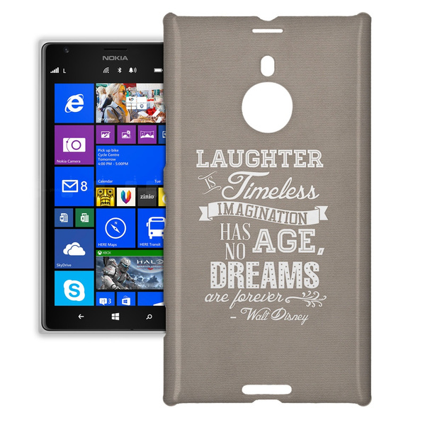 new styles f65f7 2ea8b Phone Case For Nokia Lumia 1520 - Kraft Laughter is Timeless Walt Disney  Quote Protective Hardshell