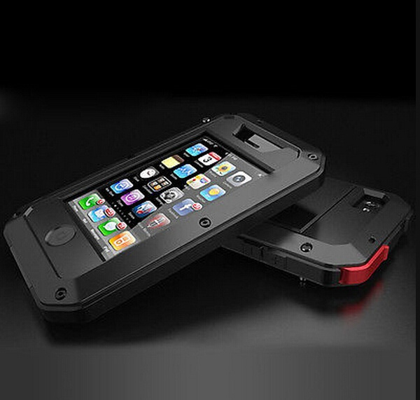 huge selection of 8eb37 723fd Lunatik Taktik EXTREME Lifeproof Aluminum Gorilla Glass Case For iPhone 4  4s 5 5s