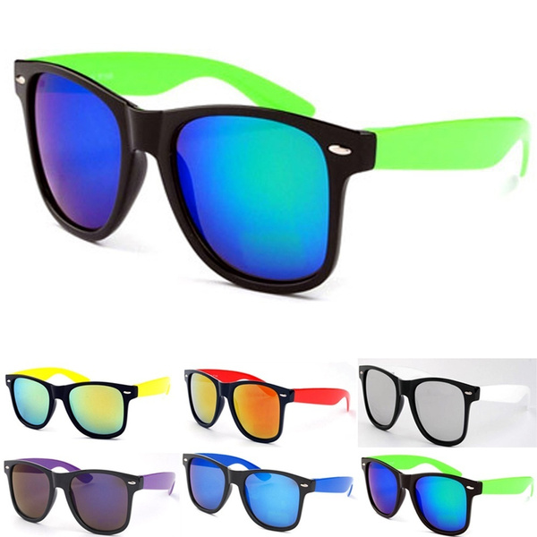 Picture of Sport Mens Womens Retro Wayfarer Classic Mirror Uv Blocking Sunglasses