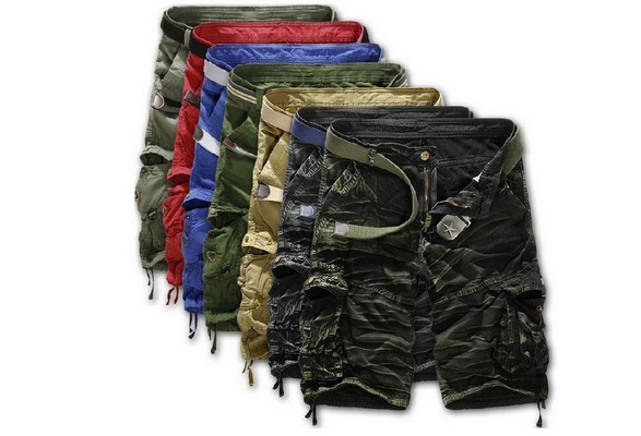 High Quality Men's Brand Fashion Camouflage/Camo Shorts Short Cargo Pants for Men 8 Colors 7 Size