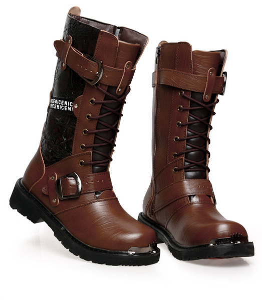 Wish | Fashion Winter Boots Men Long Boots Outdoor Boots Male ...