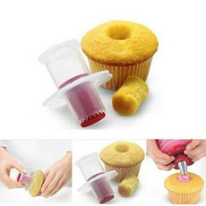 Fashion Kitchen creative Cupcake Muffin Cake Corer Plunger Cutter Pastry Decorating Divider Model