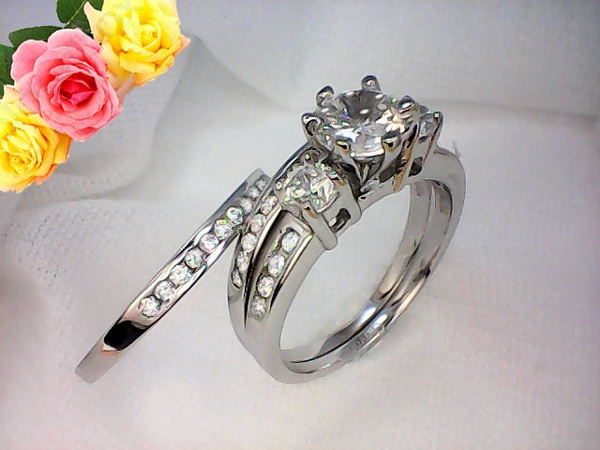 Wish | Wedding Ring Set : 3 Pieces, Women(Pure Sterling Silver 925),Wedding  Engagement Ring Band Set, Item # GSR0042
