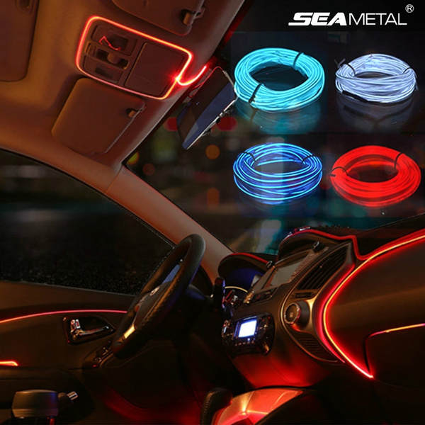40in 192in 1m 5m 12v Car Interior El Cold Light Atmosphere Decoration Strips Christmas Lights