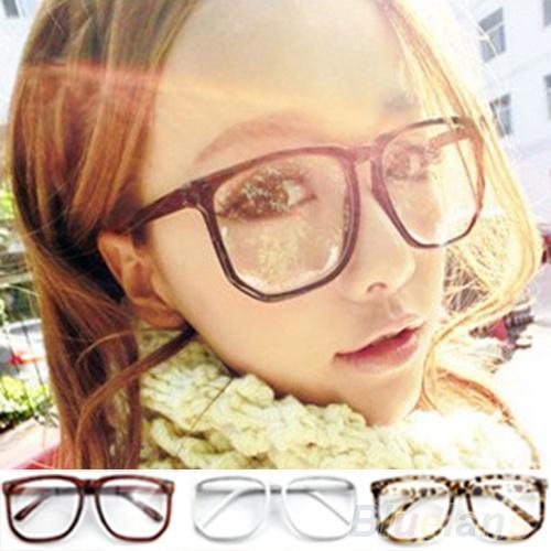 Picture of Unisex Oversized Retro Tortoise Shell Nerd Geek Clear Lens Plain Glasses