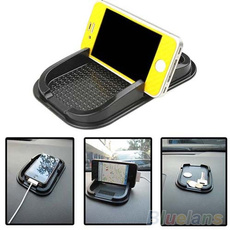 Black Car Dashboard Sticky Pad Mat Anti Non Slip Gadget Mobile Phone GPS Holder , phone mount
