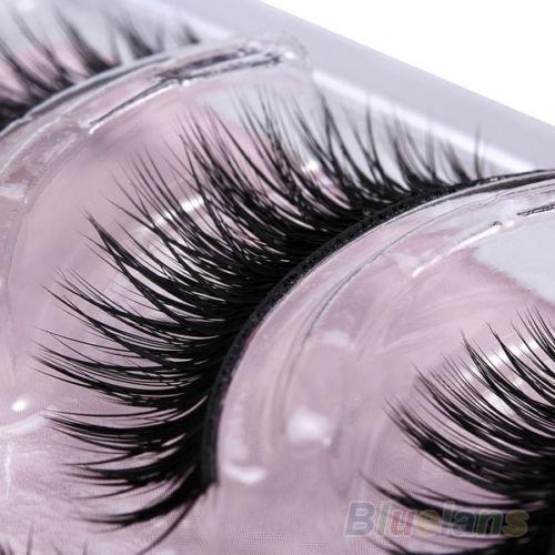 Picture of 3 Pairs Thick Black Makeup Eyelashes Handmade False Fake Party Soft Eye Lashes