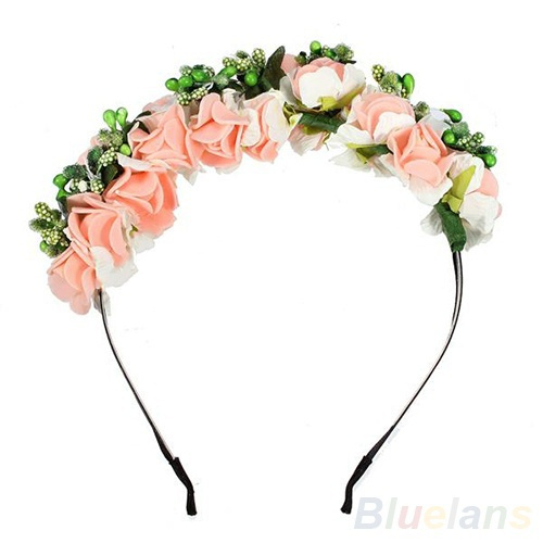 Wish pinkwhite flower boho floral headband garland festival wish pinkwhite flower boho floral headband garland festival wedding bridal hairband mightylinksfo