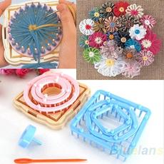 9PCS Flower Knitting Loom Knit Daisy Pattern Maker Wool Yarn Needle Home Craft