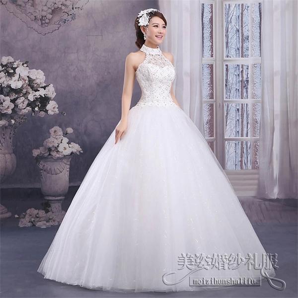 Wish | Romantic Wedding Dress Ball Gown Bridal Gown Floor-Length ...