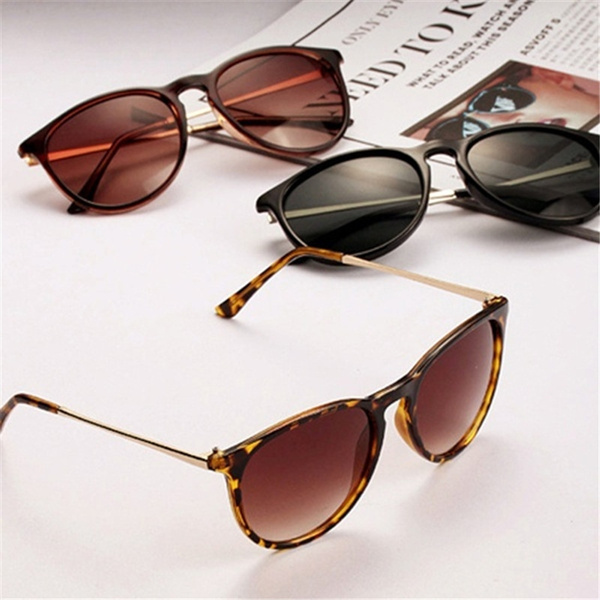 Picture of Unisex Eyeglasses Retro Round New Metal Frame Leg Spectacles Fashion Sunglasses