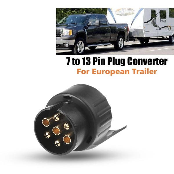 12V 13pin to 7pin  Socket Plug Converter Adapter For Towbar Towing Truck Caravan