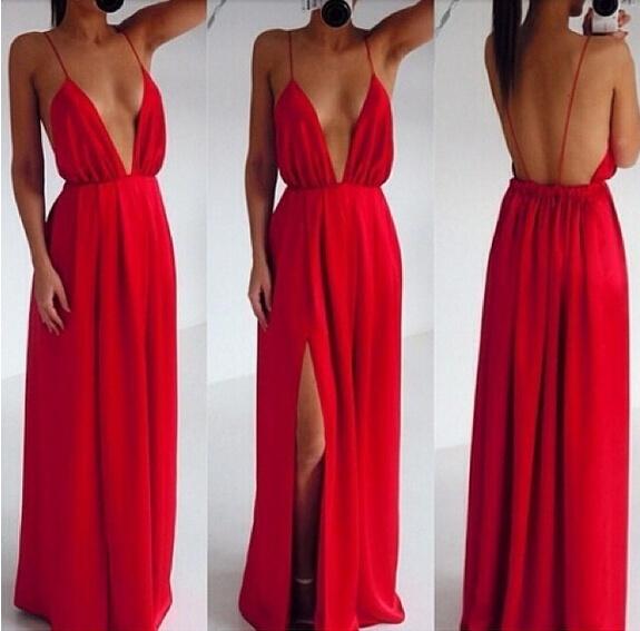 prezzo abbordabile servizio eccellente seleziona per il meglio Sexy Vestito abito lungo schiena scoperta Party long dress backless
