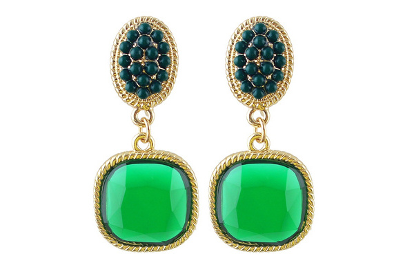 Hot Sale Fashion Lovely Colorful Round Clip On Earrings for Women With Created Gemstone