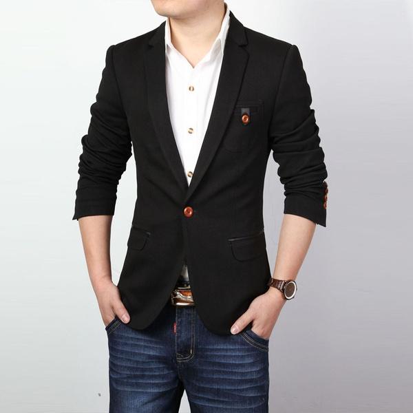 Wish | Cheap Men Coats Blazer Casual Jacket Mens Suits Blazer