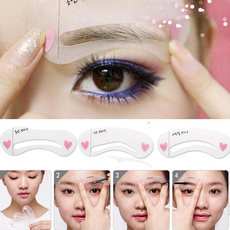 1 Set of 3pcs Exquisite Eyebrow Stencil Grooming Shaping Card Kit Template MakeUp Tool