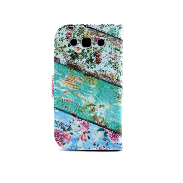 online store d9382 8a97a Longitudinal flowers Graphics PU Leather Wallet Flip Stand Smart Bracket  Case Cover Credit Card Holder Case + Soft TPU Cover Skin For SAMSUNG GALAXY  ...