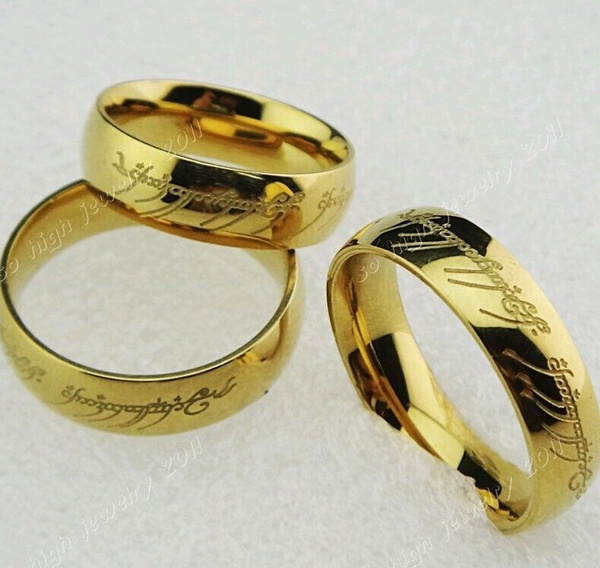 wish lord of rings the one ring lotr titanium stainless steel wedding engagement - Lotr Wedding Ring