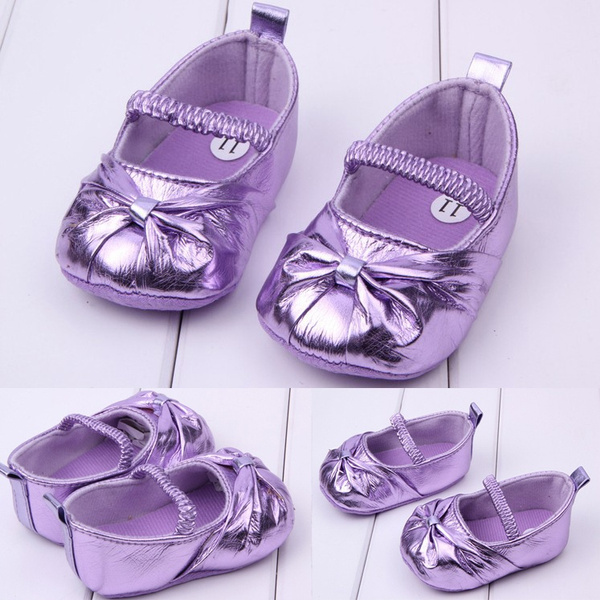 Wish | Bowknot Baby Girls Shoes Toddler Infant Shoes Prewalker ...