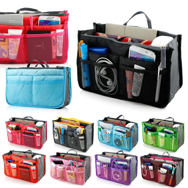 Picture of Travel Bag Purse Tidy Large Liner Organizer Women Travel Insert Handbag 16 Color