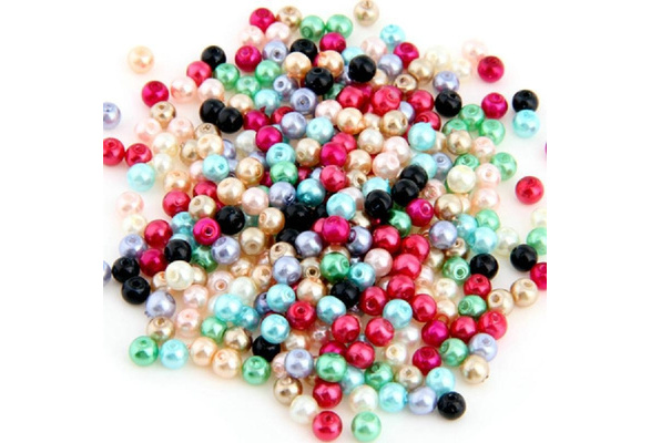 500pcs/ Lot Multicolor Round Glass Pearl Loose Beads 4mm Gifts Jewelry Creat Bracelet Necklace delicated arts and crafts