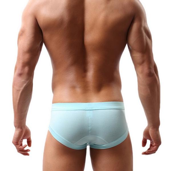 Sexy Men Seamless Low Waist Briefs Short Pants Thongs Underwear