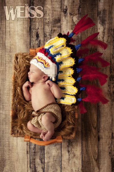 Wish | Indian chief caps Shorts set newborn Baby infant Toddler prince Girl boy Costume Beanie photography photo Props Crochet Clothing SetS knitted caps ... & Wish | Indian chief caps Shorts set newborn Baby infant Toddler ...