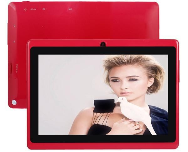 cheap 7 inch android 4 0 boxchip allwinner a13 mid firmware 1 2GHZ 512M 4G  Capacitive Screen Q88 q8 tab tablet pc (4G add Leather Case)