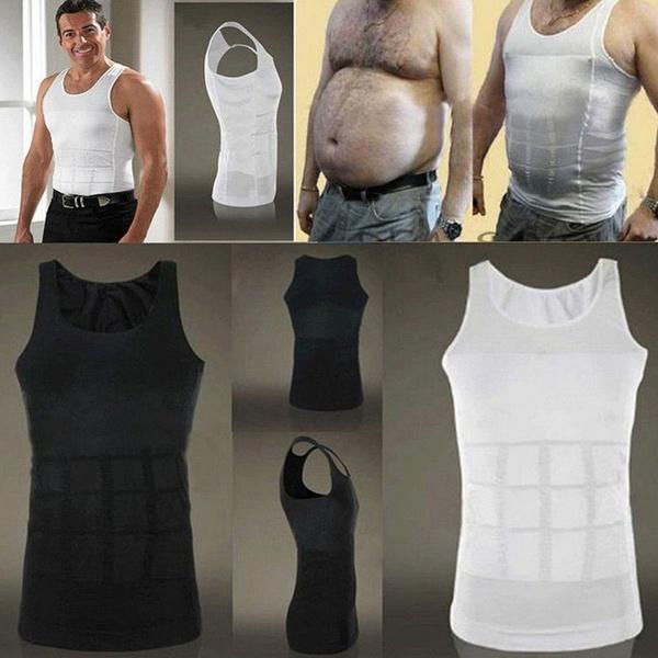 Mens Body Slim Tank Top Shaper Belly Underwear Shapewear Waist Girdle Shirt Vest