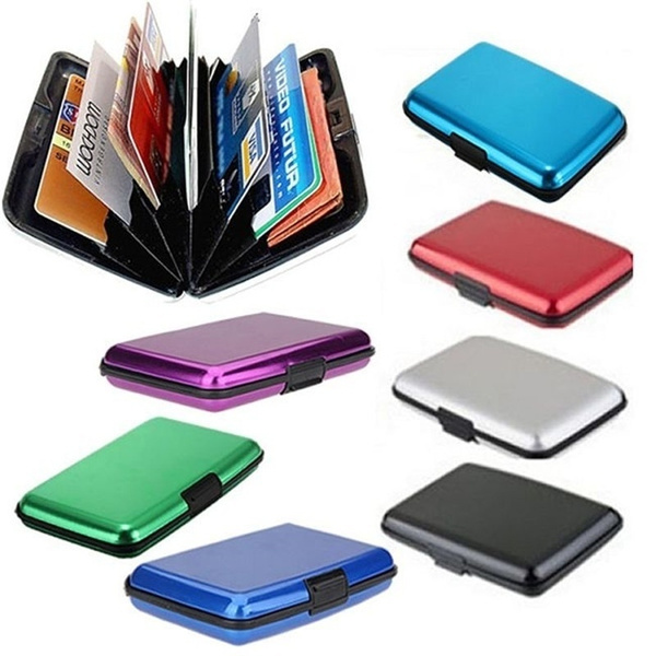 Picture of Waterproof Business Id Credit Card Wallet Holder Aluminum Metal Case Box
