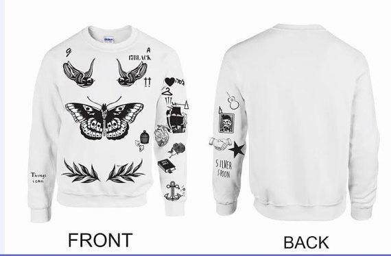 2f76c422a383 One Direction Shirt Unisex Crewneck Sweatshirt Harry Styles Tattoos ...